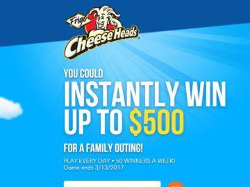 """Saputo Cheese USA Inc., Frigo Cheese Heads """"Bite Size String Break"""" Sweepstakes"""