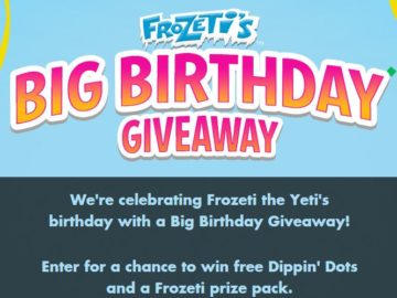 Dippin' Dots Frozeti's Big Birthday Giveaway Sweepstakes