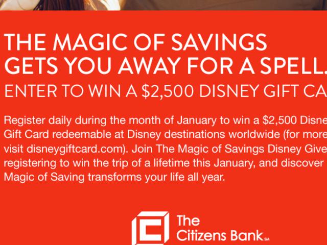 Win a $2,500 Disney Gift Card