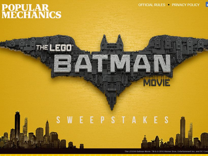 Popular Mechanics Sweepstakes >> Popular Mechanics The Lego Batman Movie Sweepstakes