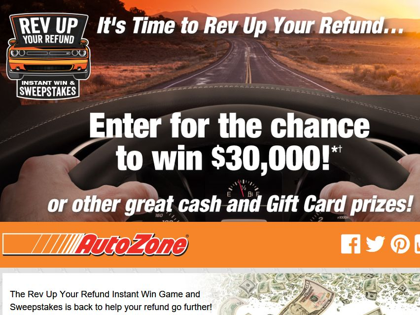 Instant win sweepstakes giveaways