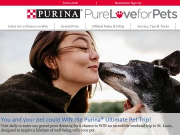 Purina Ultimate Pet Trip Game Sweepstakes