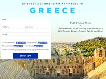 Enter for a chance to win a trip for 2 to greece sweepstakes malvernweather Image collections