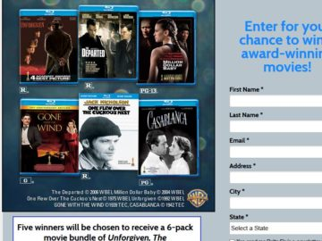 Delta Sky's Award-Winning Movies Giveaway Sweepstakes