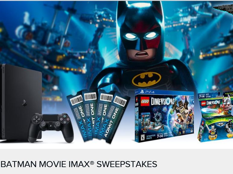 Batman Movie IMAX Sweepstakes