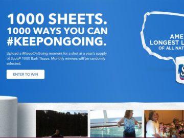 Scott 1000 Ways You Can #KeepOnGoing Sweepstakes