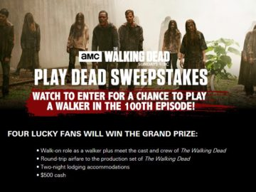 AMC's The Walking Dead Play Dead Sweepstakes