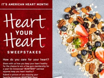 Snack Foods Sales Heart Your Heart Sweepstakes