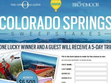 O magazine sweepstakes winners