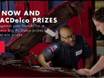 2017 ACDelco Garage Sweepstakes and Instant Win Game