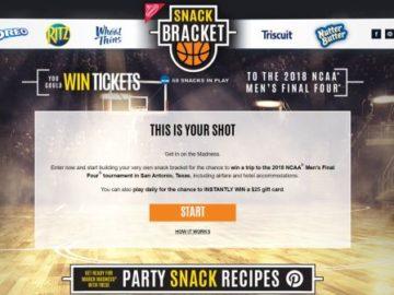 2017 Nabisco Snack Bracket Sweepstakes & Instant Win Game