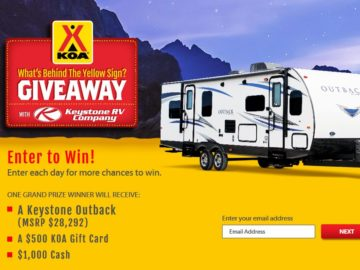 KOA What's Behind the Yellow Sign Giveaway Sweepstakes