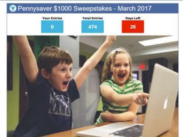 Pennysaver $1,000 Monthly Sweepstakes – New York State Only