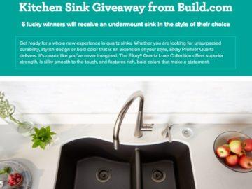 Elegant Win A New Kitchen Sink