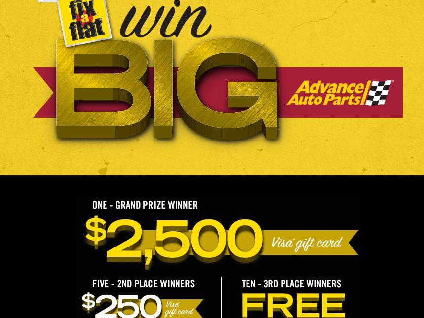 Advance Auto Parts Fix-A-Flat Win Big Sweepstakes