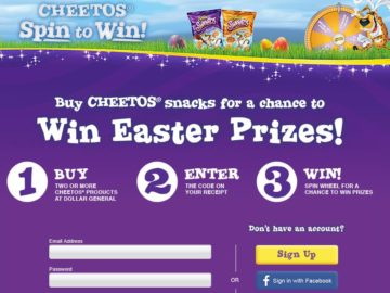 Dollar General Cheetos Easter Spin to Win Game Sweepstakes