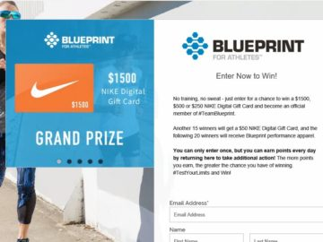 For athletes test your limits sweepstakes blueprint for athletes test your limits sweepstakes malvernweather Gallery