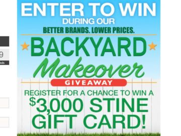 Stine Better Brands Lower Prices Backyard Makeover Sweepstakes