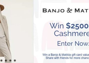 Win $2500 in Cashmere Sweepstakes