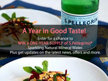 S.Pellegrino Email Newsletter Sign Up Sweepstakes