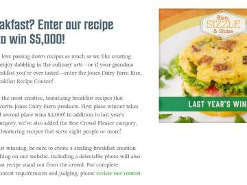 Rise, Sizzle & Shine Breakfast Recipe Contest