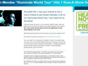 Shawn mendes illuminate world tour hits 1 row a show sweepstakes m4hsunfo