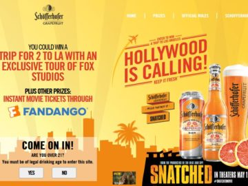 """Schofferhofer Grapefruit """"Hollywood is Calling"""" Sweepstakes and Instant Win"""