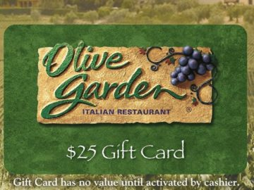 Win A 25 Olive Garden Gift Card