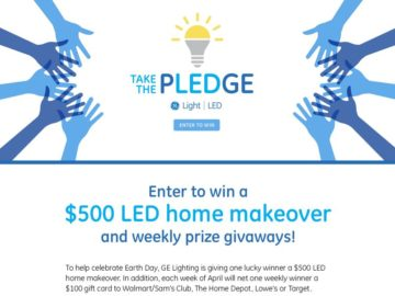 GE Lighting LED Makeover Sweepstakes