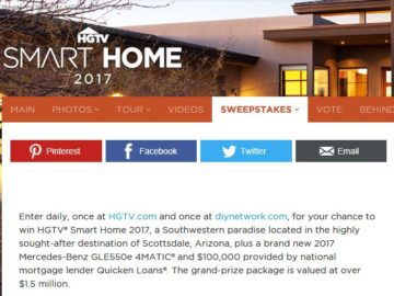 HGTV Smart Home Giveaway 2017 Sweepstakes