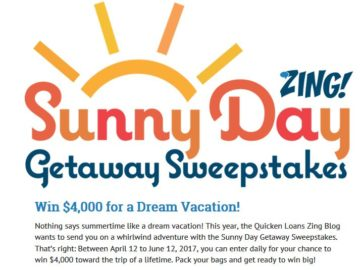 Zing! by Quicken Loans Sunny Day Getaway Sweepstakes