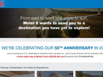 Motel 6 Travel Experience Sweepstakes