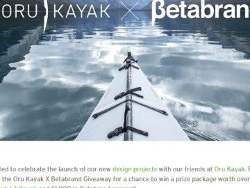 Oru Kayak X Betabrand Giveaway Sweepstakes