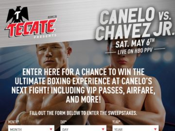 TECATE May 2017 Fight Sweepstakes and Instant Win