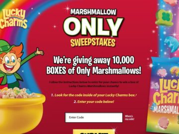 Lucky Charms Marshmallow Only Sweepstakes – Code Required