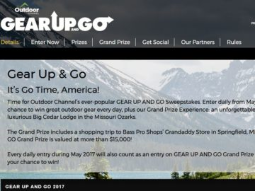 Gear up and go outdoor channel