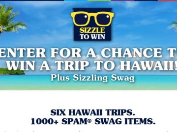 "SPAM Brand ""Sizzle To Win"" Sweepstakes"