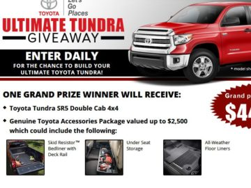 Toyota Tundra Ultimate Truck Giveaway Sweepstakes