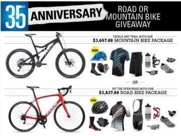 Performance Bicycle 35th Anniversary Road or Mountain Bike Giveaway Sweepstakes