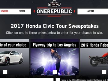 Honda Civic Tour Sweepstakes