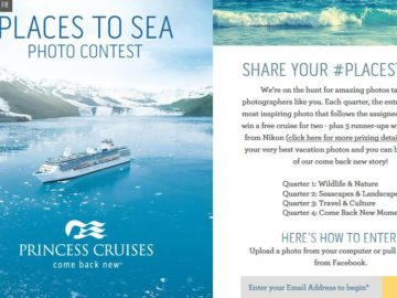 Princess Cruises Places to Sea Contest