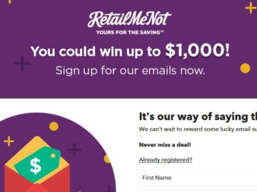RetailMeNot Always On Sweepstakes