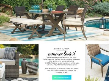 ASHLEY HOMESTORE 2017 Outdoor Sweepstakes