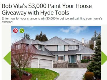 Bob Vila S Hyde Tools 3 000 Paint Your House Giveaway