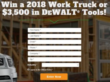 "Angie's List 2017 ""Work with the Best"" Sweepstakes – Business Owners Only"