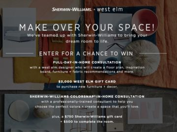Wonderful West Elm Design Services Sweepstakes