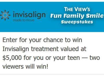 View's Fun Family Smile Sweepstakes