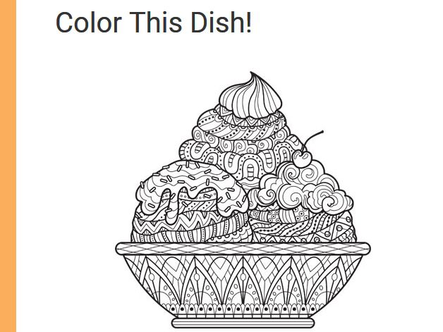 Food Network Magazine Color This Dish! Contest