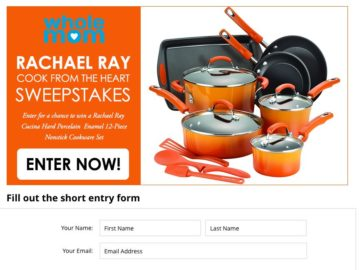 Win a 12-piece NonStick Rachel Ray Cookware Set