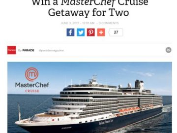 Masterchef cruise tickets